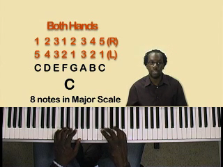 Lesson 12 – C Major Scale with Both Hands